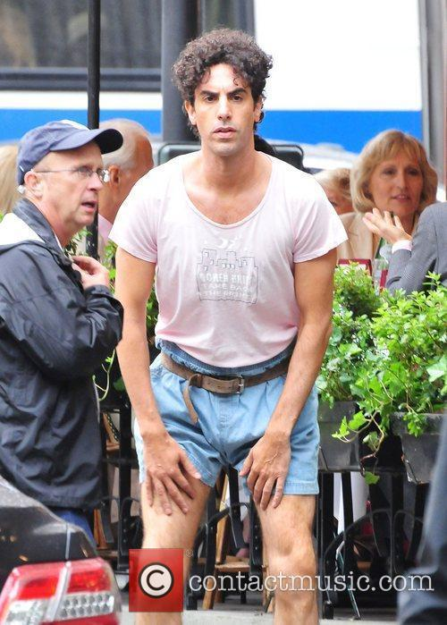 Sacha Baron Cohen on the film location for...