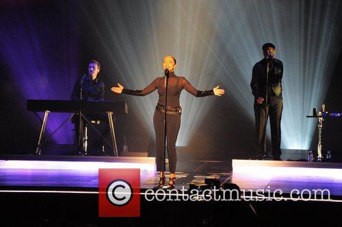 Sade performing at the LG arena