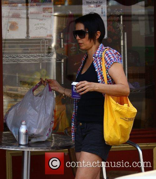 Sadie Frost and her son Rafferty take their...
