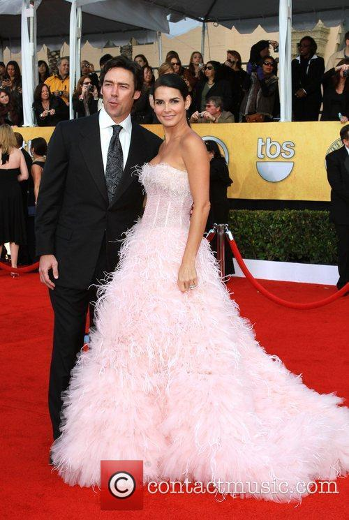 NFL player Jason Sehorn and actress Angie Harmon...