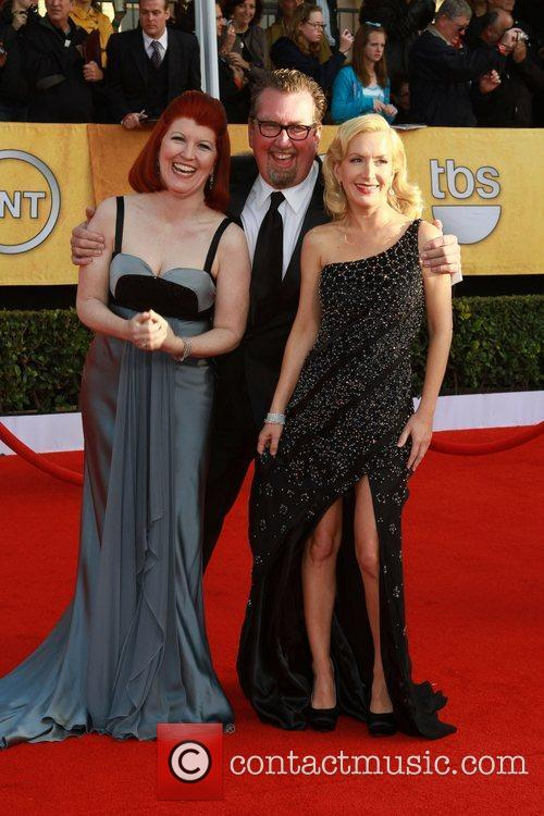 Kate Flannery with boyfriend Chris Haston and Angela...