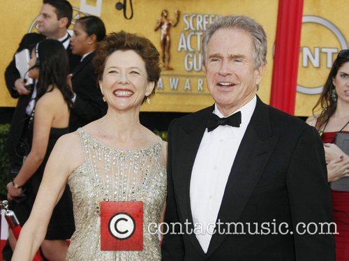 Annette Bening and her husband Warren Beatty...