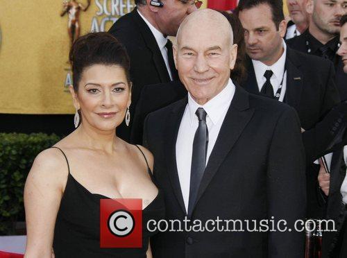 Marina Sirtis and Patrick Stewart