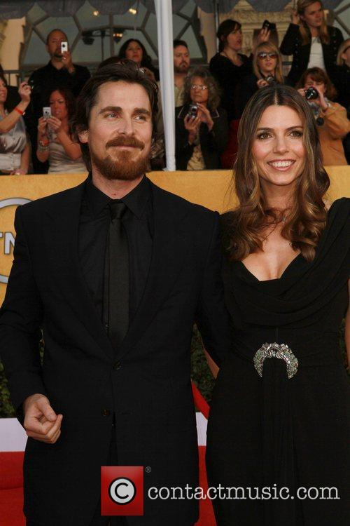 Christian Bale and wife The 17th Annual Screen...