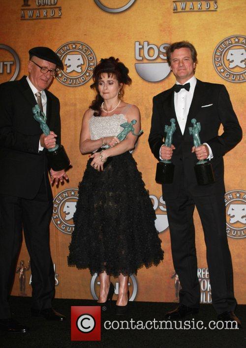 Geoffrey Rush, Helena Bonham Carter and Colin Firth...