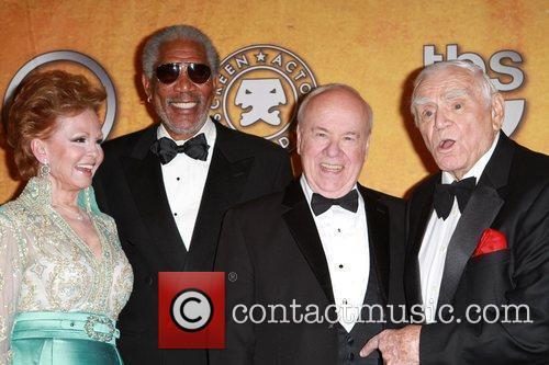 Tova Borgnine, Ernest Borgnine and Morgan Freeman 4
