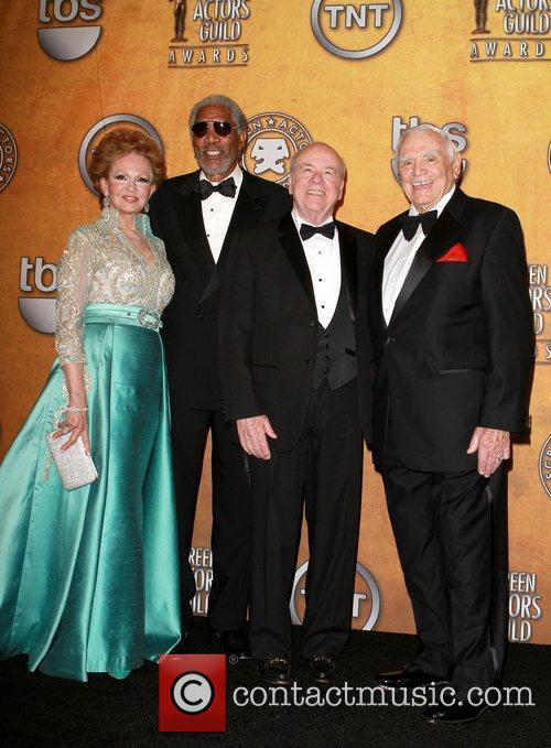 Tova Borgnine, Ernest Borgnine and Morgan Freeman 3
