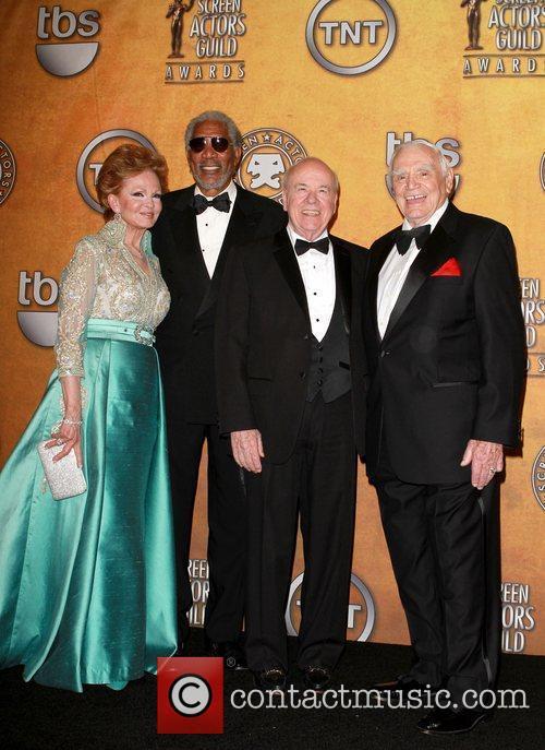 Tova Borgnine, Ernest Borgnine and Morgan Freeman 1