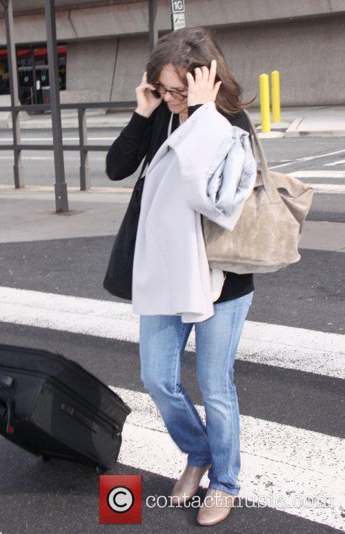 Actress Sally Field arrives at Washington Dulles Airport....
