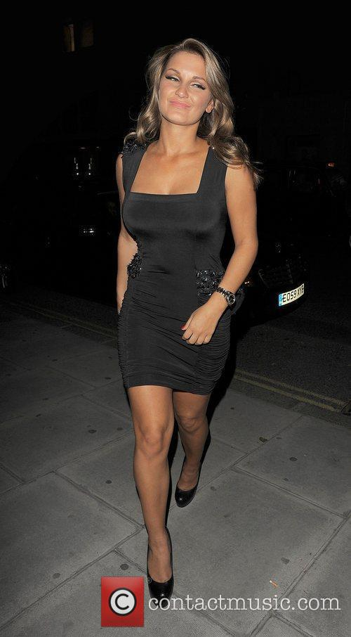 Samantha Faiers arriving back at her hotel.