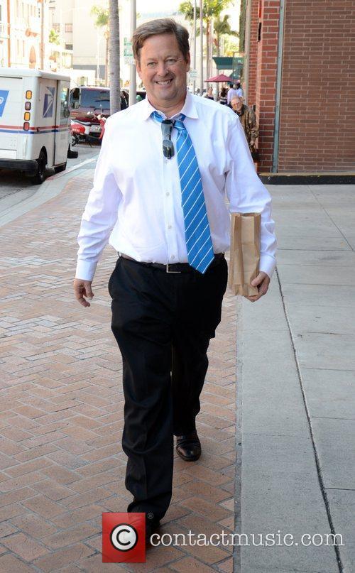 Sam Rubin leaves a Doctors office in Beverly...