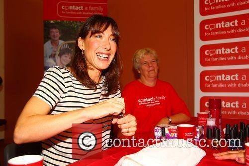 Samantha Cameron gives a manicure The launch of...