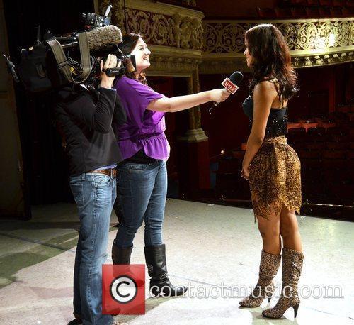 Samantha Mumba being interviewed by Xpose Samantha Mumba...