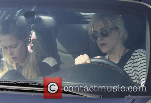 Samantha Ronson and a female friend stop off...