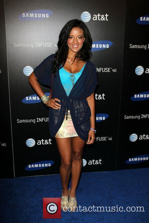 Heather Hemmens Samsung Infuse 4G For AT&T launch...