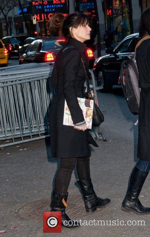 Leaving the NBC studios in Manhattan