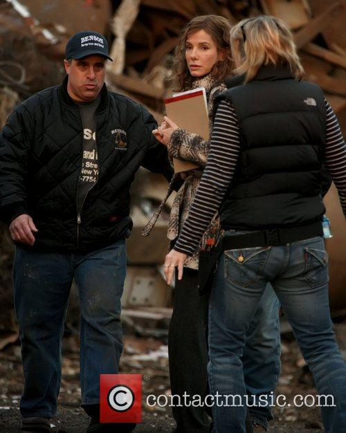 Sandra Bullock on the set of her new...
