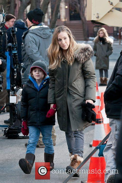 Sarah Jessica Parker seen on the set of...