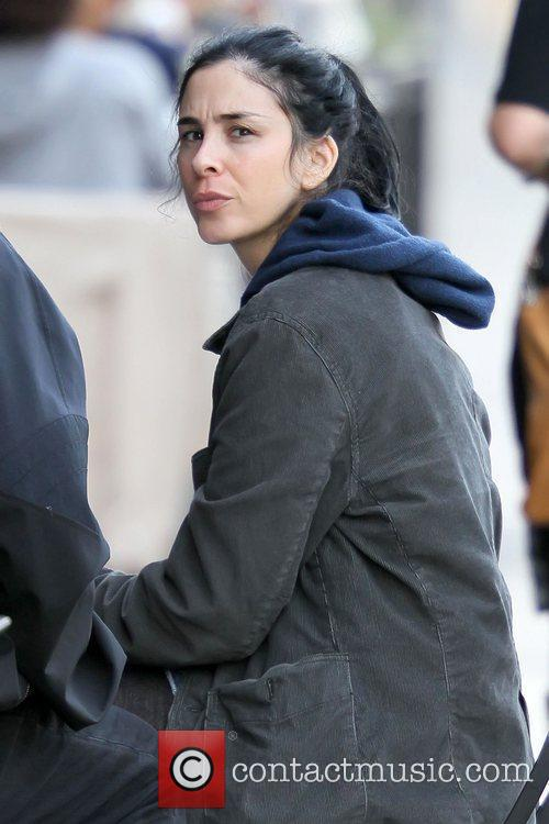 Sarah Silverman having lunch with friends at Joan's...