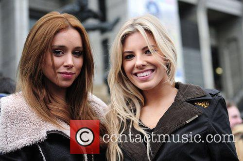 Una Healy and Mollie King of girl band...