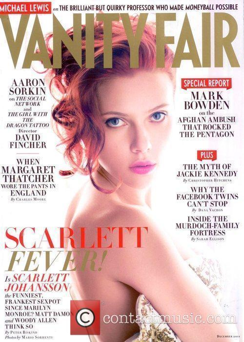 Appears on the December 2011 cover of Vanity...