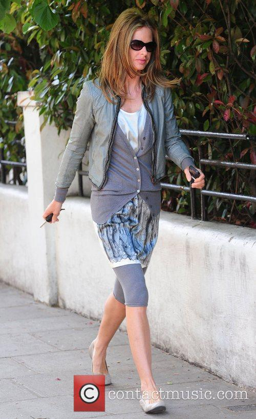 Trinny Woodall after dropping her daughter off at...
