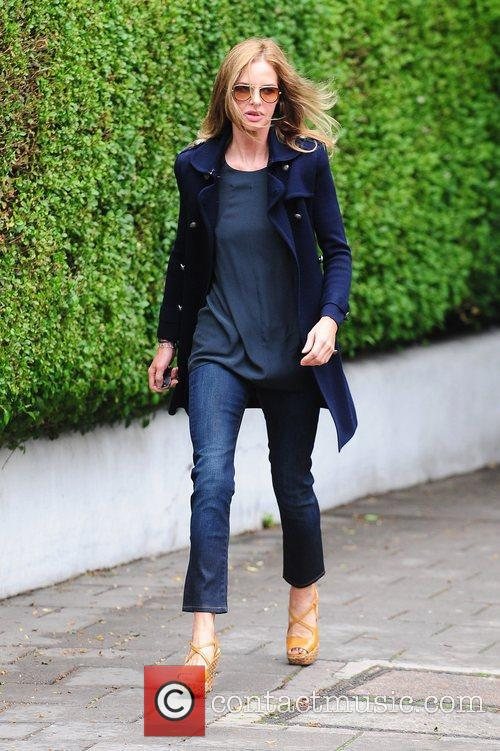 Trinny Woodall after dropping her children off at...