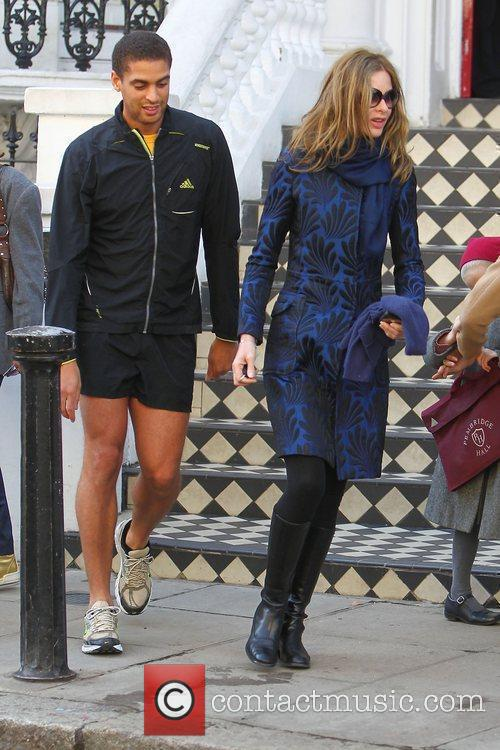 Trinny Woodall and a friend dropping her daughter...