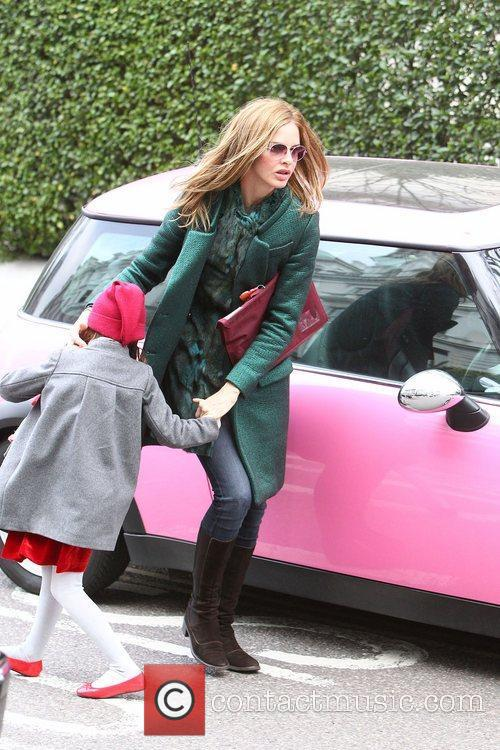 Trinny Woodall dropping her daughter Lyla off at...
