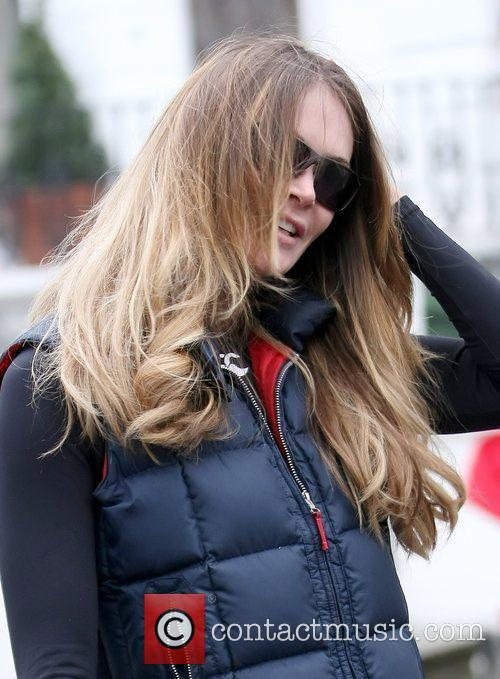 Elle Macpherson after dropping her son off at...