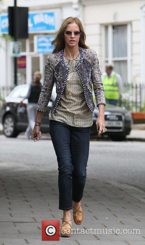 Trinny Woodall walking in Central London after dropping...