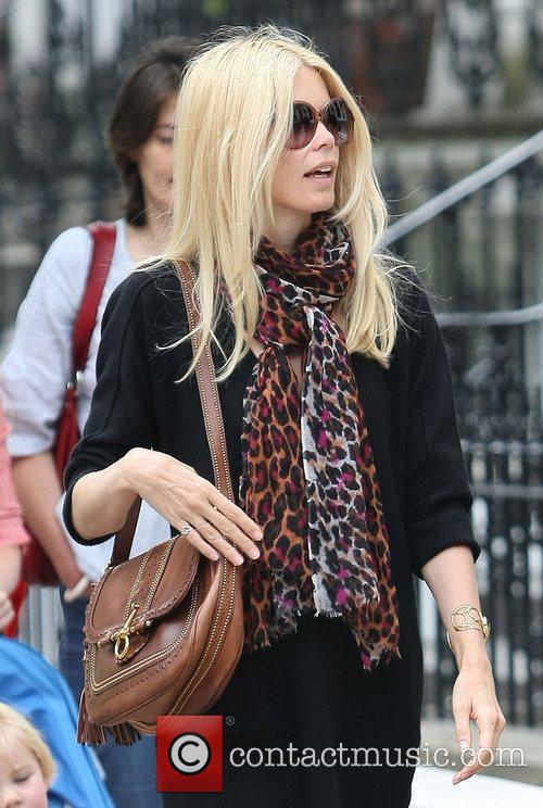 Claudia Schiffer  celebrities on the school run...