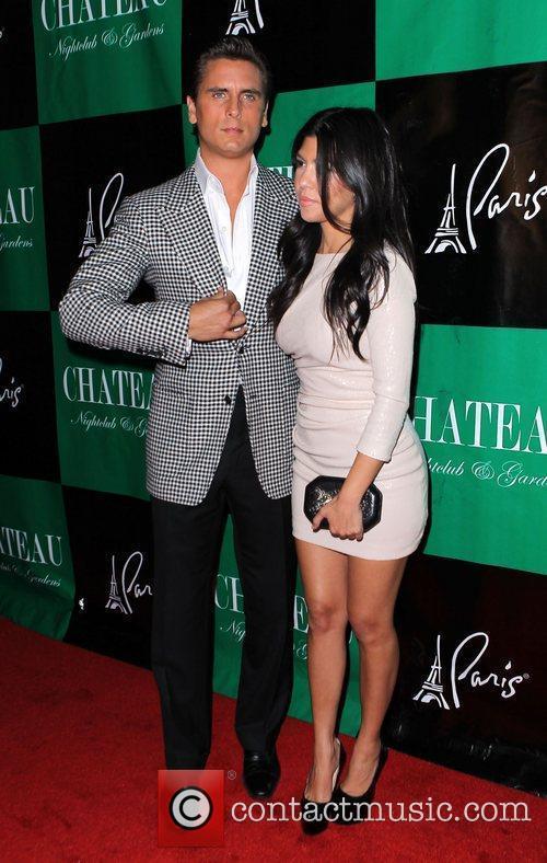 Scott Disick and Kourtney Kardashian Scott Disick celebrates...