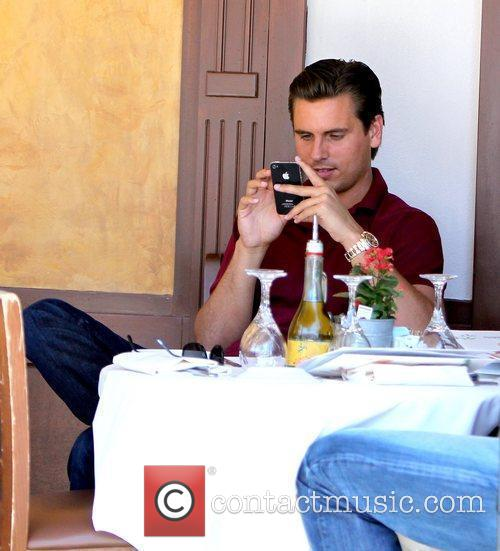 Scott Disik  having lunch with a friend...