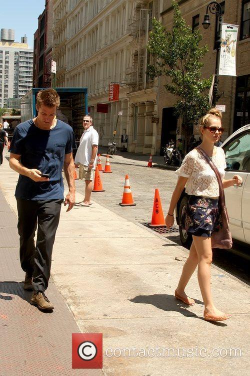 Scott Speedman and Teresa Palmer take a stroll...