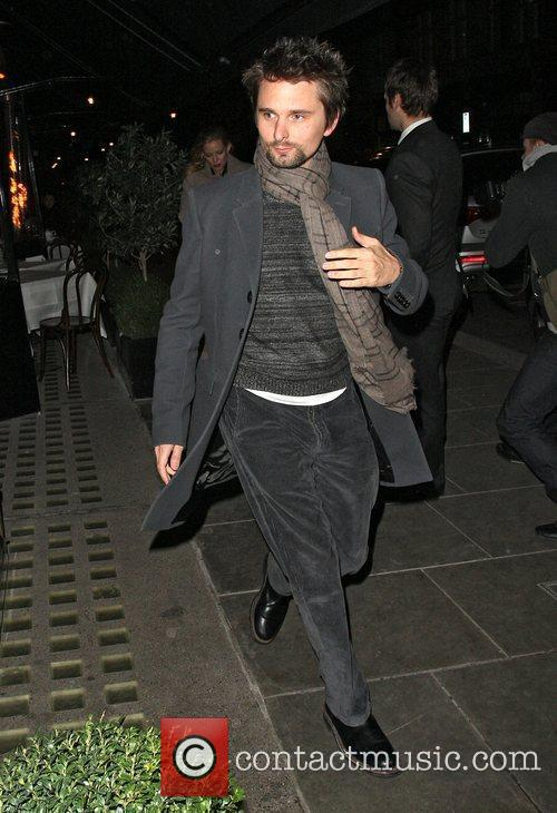 Matt Bellamy from Muse dining at Scotts restaurant.