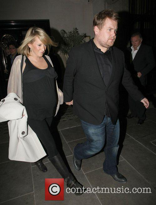 James Corden and his pregnant girlfriend Julia Carey...