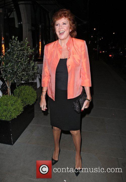 Cilla Black arriving at Scotts restaurant in Mayfair....