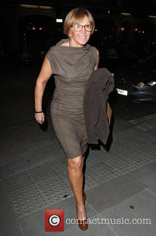 Anne Robinson leaving Scotts restaurant in Mayfair