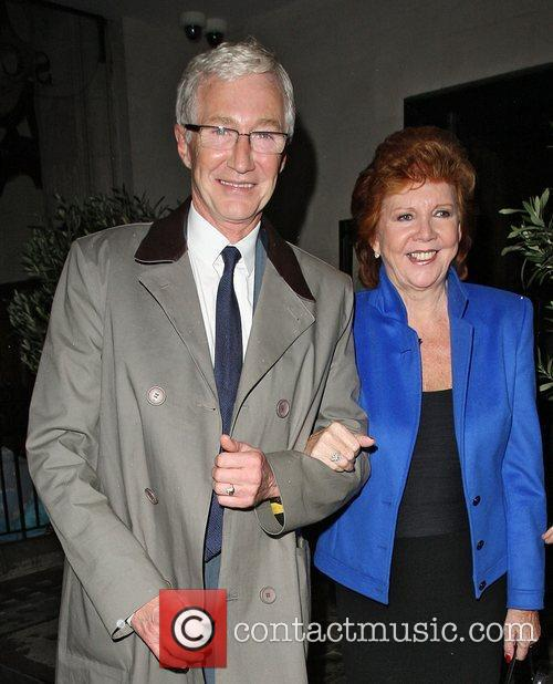 Paul O`Grady and Cilla Black leaving Scotts restaurant...
