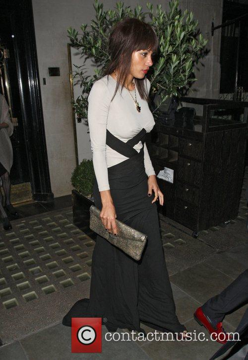 Ana Araujo leaving Scotts restaurant in Mayfair