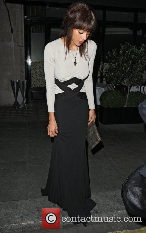 Ana Araujo leaving Scotts restaurant in Mayfair London,...