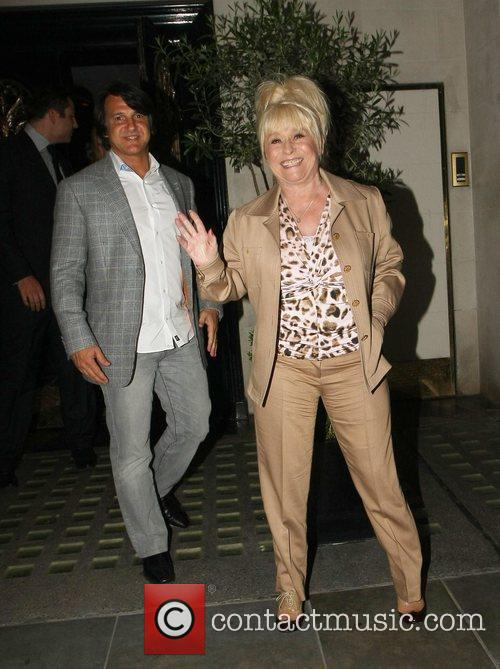 Barbara Windsor and Scott Mitchell celebrities outside Scott's...
