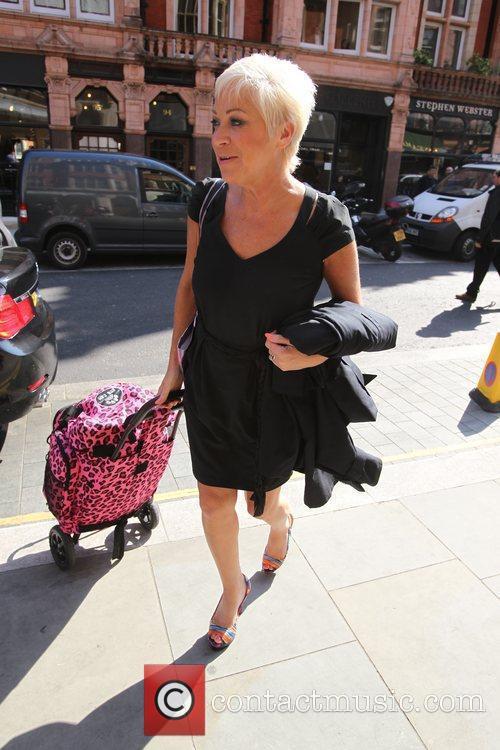 Denise Welch Celebrities outside Scott's Restaurant  London,...