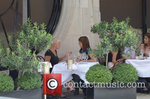 Denise Welch, Carol Vorderman Celebrities at Scott's Restaurant...