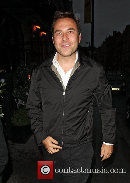David Walliams arriving at Scott's Restaurant in Mayfair...