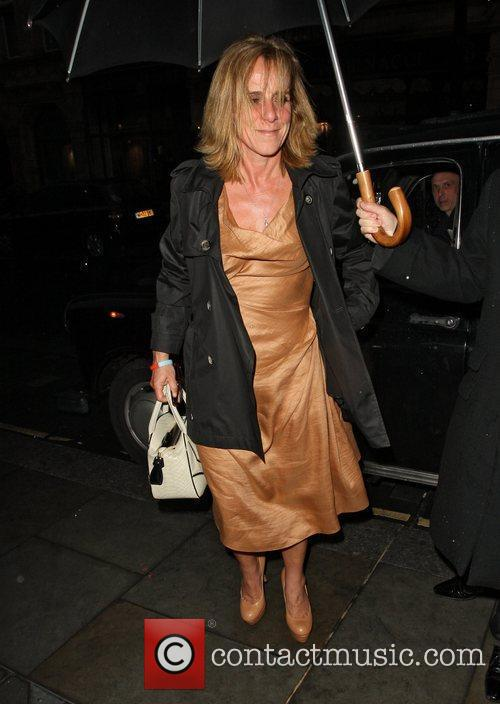 Arriving at Scott's Restaurant in Mayfair with her...