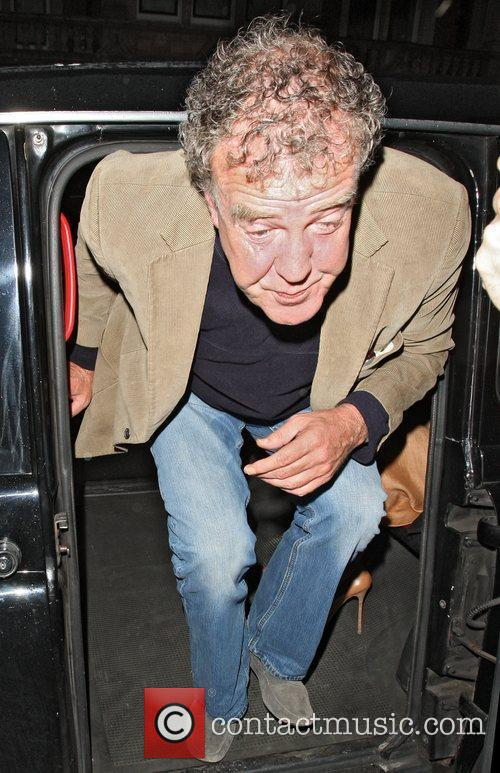Jeremy Clarkson arriving at Scott's Restaurant in Mayfair...