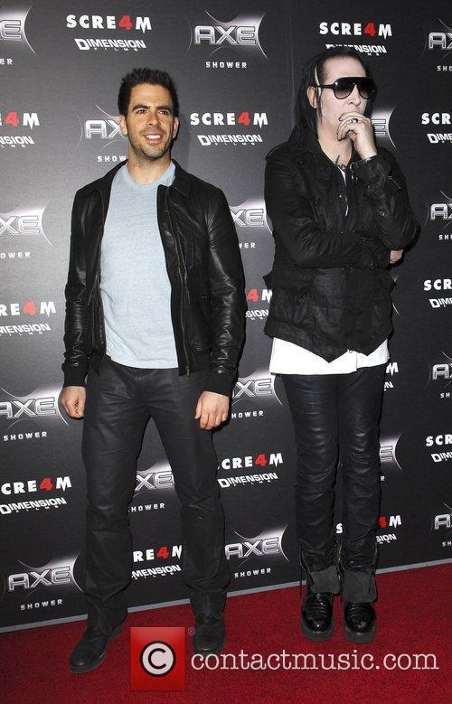 Eli Roth and Marilyn Manson 4