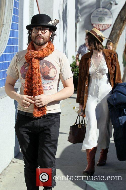 Sean Lennon and his girlfriend Charlotte Kemp...